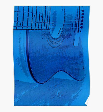 blu guitar Poster