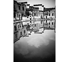 Water Town in Black & White 11 Photographic Print