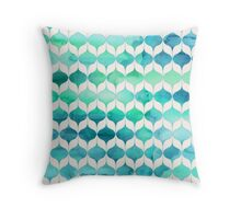 Ocean Rhythms and Mermaids Tails Throw Pillow