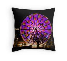 Birrarung Marr Ferris Wheel - purples Throw Pillow