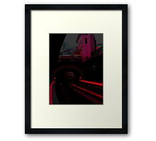 Red-ily into the night Framed Print