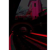 Red-ily into the night Photographic Print