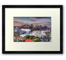 Glow - Moods Of A City - The HDR Experience Framed Print