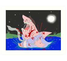 Transformation of the Sharkman Art Print