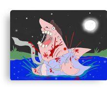 Transformation of the Sharkman Canvas Print