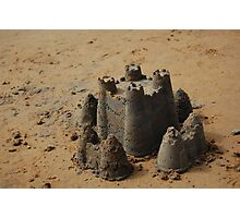 Sand castle Photographic Print
