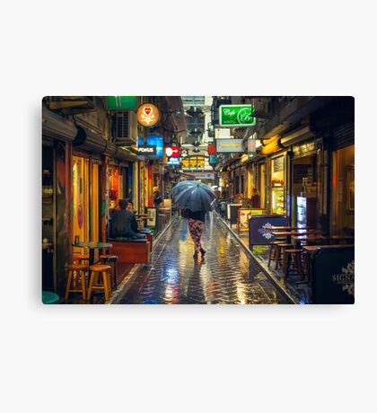 Rainy Day in Bohemian Melbourne Canvas Print