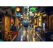Rainy Day in Bohemian Melbourne Photographic Print