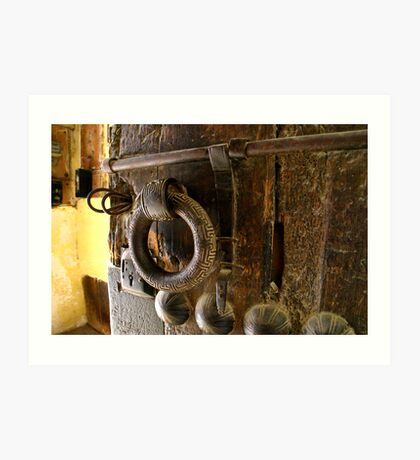 Old door handle in Fez souk Art Print