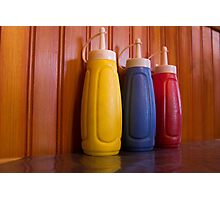 Saucy bottles Photographic Print