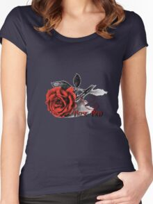 Rose Red - Simply Elegant  Women's Fitted Scoop T-Shirt