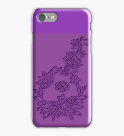 A floral Emboss  (5505 views) iPhone Case/Skin