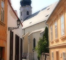 Old city of Győr by zumi