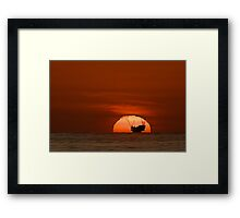 Is The Sun Setting on Fossil Fuels? Framed Print