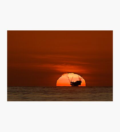 Is The Sun Setting on Fossil Fuels? Photographic Print
