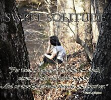 Sweet Solitude by Greeting Cards by Tracy DeVore
