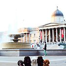 Toy Poodles in London - Trafalgar Square by Cristina Rossi