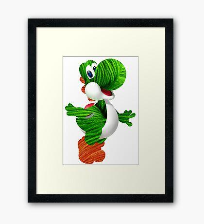 Yarn Yoshi Framed Print