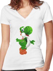 Yarn Yoshi Women's Fitted V-Neck T-Shirt