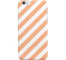 Peach Thick Diagonal Stripes iPhone Case/Skin