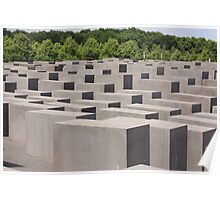 Holocaust memorial Berlin Poster