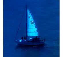 Sailing by moonlight Photographic Print
