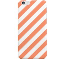 Coral Thick Diagonal Stripes iPhone Case/Skin