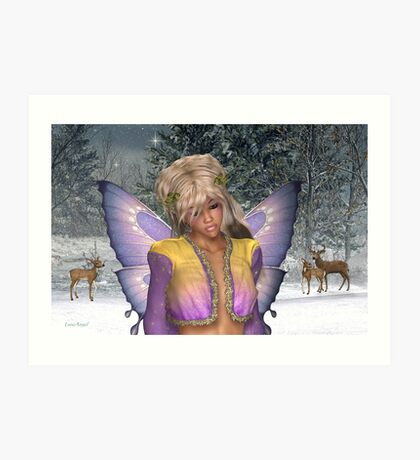 Winter fae Art Print