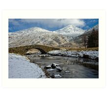 Argyll Winter Snow Scene Art Print