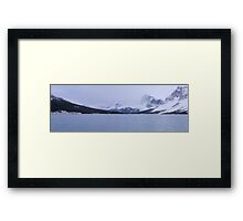 Ice blue white Framed Print