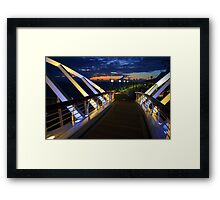 Cruise ship ocean liner sunset over mexico Framed Print