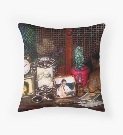 The Dresser (Scene from a Miniature) Throw Pillow