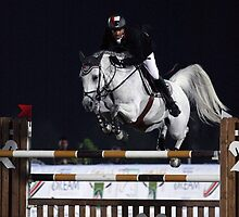 Show jumping horse by Jo McGowan