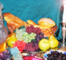 Bread and Fruit Impressionist  by Michelle BarlondSmith