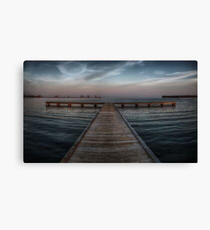 Pier at Millers Bay ~ HDR Reworked Canvas Print
