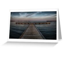 Pier at Millers Bay ~ HDR Reworked Greeting Card
