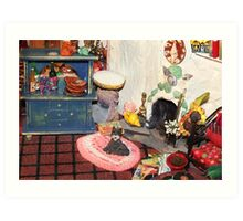 Hearth and Home (Scene from a Miniature) Art Print