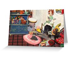 Hearth and Home (Scene from a Miniature) Greeting Card