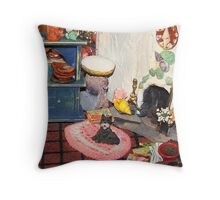 Hearth and Home (Scene from a Miniature) Throw Pillow