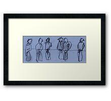 Birds on Wire 03 Framed Print