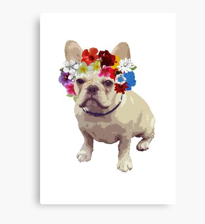 I Love Frenchies Canvas Print