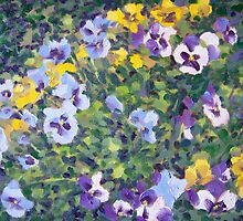 Pansies in Pots by Norman Kelley