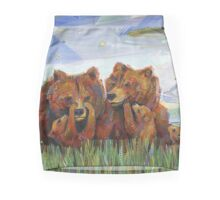 Grizzly bears Pencil Skirt