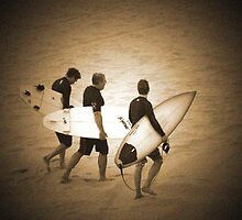 ~three surfers~ by Terri~Lynn Bealle