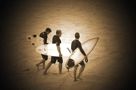 ~three surfers~ by Terri~Lynn Bealle