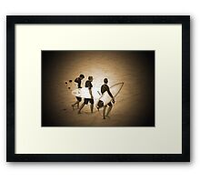 ~three surfers~ Framed Print