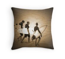 ~three surfers~ Throw Pillow
