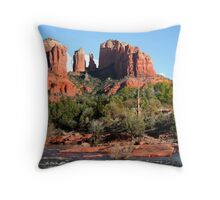 Cathedral Rocks in Sedona Throw Pillow