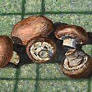 Fresh baby bella mushrooms by bernzweig