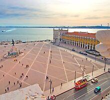 Praça do Comércio. vista do topo do Arco da Rua Augusta. by terezadelpilar~ art & architecture